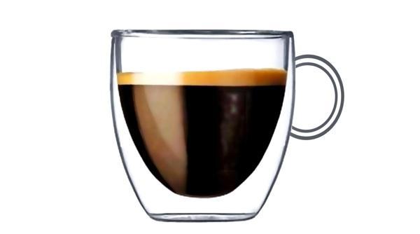 стекляная чашка для эспрессо