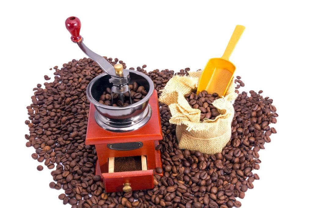 перемалывание кофе
