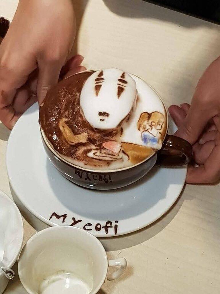 рисунок на кофе 3D