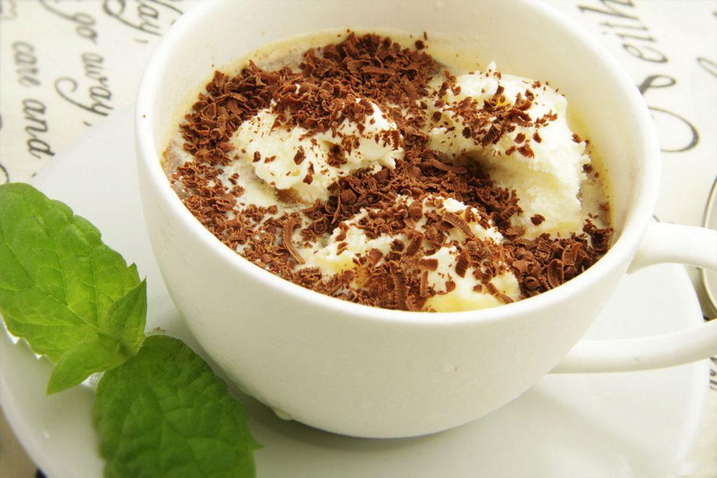 Аффогато кофе с мороженым