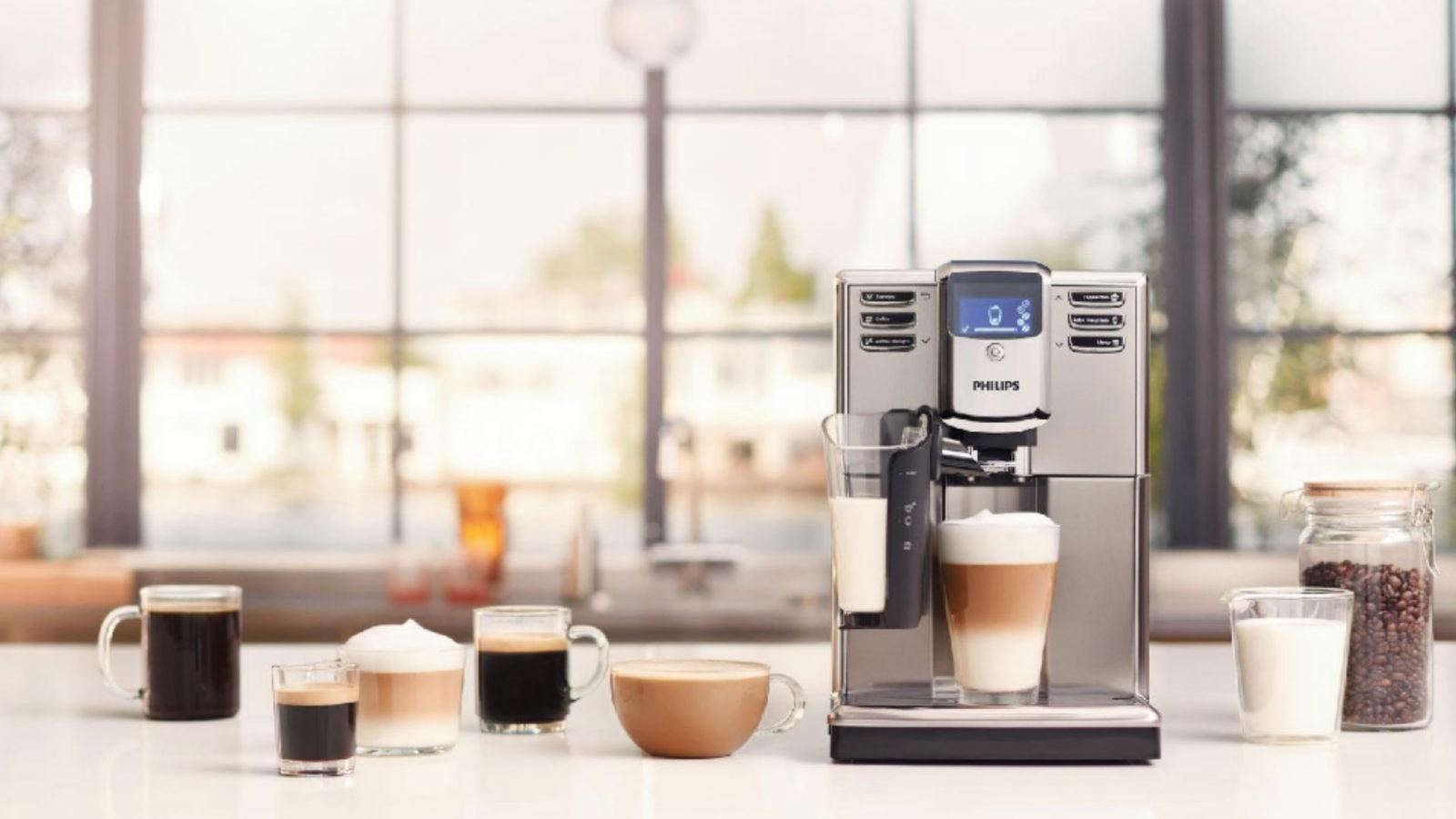 латте в кофемашине
