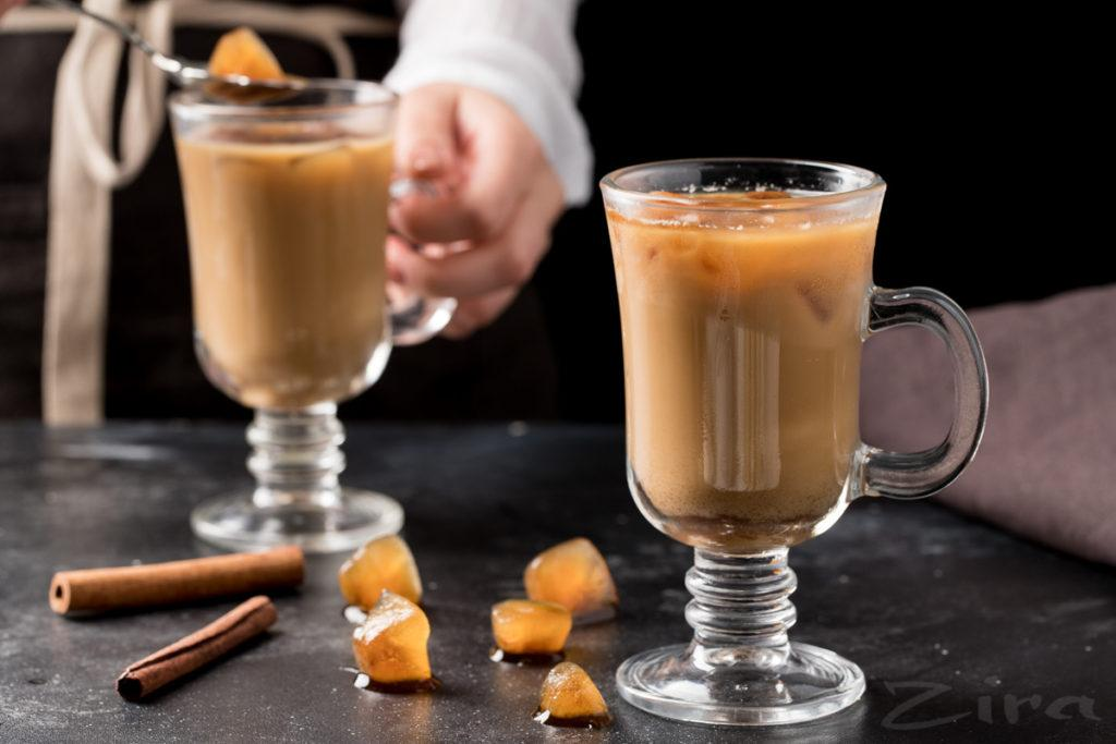 декорирование кофе айс капучино