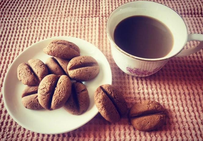 Домашнее печенье Кофейные зерна, рецепт